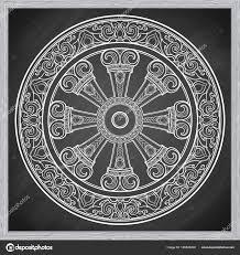 колесо дхармы дхармачакра символ учения будды на пути к