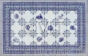 Blue And White Decorative Tiles Delft Style Coastal Tiles Villa Lagoon Tile 32