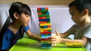 How To Play Tumbling Tower Wooden Block Game JENGA like Wooden Tumbling Tower Family fun game for kids YouTube 94