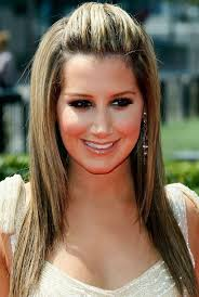 ashley tisdale long hairstyle straight hair with mohawk bangs