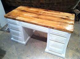 wood top desks pallet wood desk top great project for a reclaimed piece of pallet furniture wood top desks