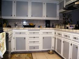 Image of: Two Tone Cabinets In Kitchen