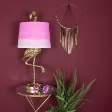 Brass Flamingo Table Lamp Ombre Shade Audenza