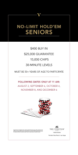 "Venetian Poker Room On Twitter: ""our Monthly $400 Nlh Seniors (50+) ..."