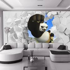 3D Stereoscopic Large Mural Custom Wallpaper Living Room TV Backdrop Wall  Paper Bedroom Wall Painting Cartoon Film Kung Fu Panda In Wallpapers From  Home ...