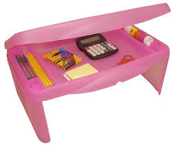 com storage folding lap desk frosted pink 2 5 h x 17 5 w x 13 d home kitchen