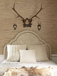 home accents interior decorating:  ci thibaut charleston headboard white cream animal head fur sxjpgrendhgtvcom