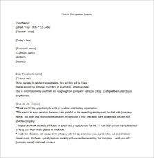 Resignation Of Employment 19 Employee Resignation Letter Templates Pdf Doc Free