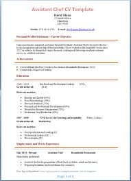 Chef Resume Sample Relevant Snapshot Including Example Of Assistant
