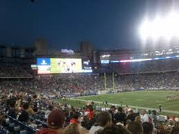 new england patriots seat view for gillette stadium section 107 row 25