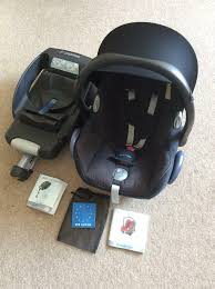 maxi cosi cabriofix car seat from newborn group 0 easyfix isofix base includes instructions