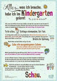 Poster Mit Tollem Zitat Zur Bedeutung Des Kinderga Bedeutung
