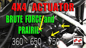 how to remove the 4x4 actuator motor and gear assembly brute force Kawasaki ATV Wiring Diagram at Kawasaki Prairie 360 Wiring Diagram