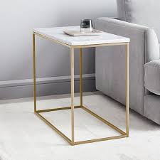 streamline side table marble