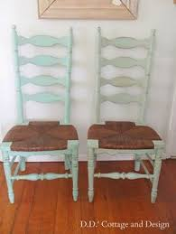 s cote and design 4 ladder back chairs with rush seats