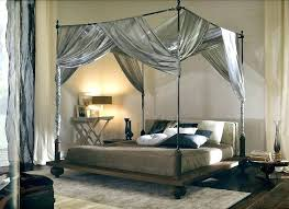 Bed With Drapes Canopy Curtains For Poster Four Ideas Draped Amazon ...