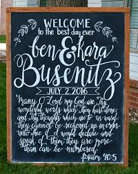 Chalkboard Sign Designs Welcome To The Best Day Ever Wedding Chalkboard Sign Psalm