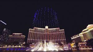 Las Vegas Light Show 2018 Ces 2018 Intel Drone Light Show 250 Drones Flying Over Las