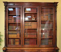 Antique Victorian Oak Library Bookcase Antique Library Bookcases ...