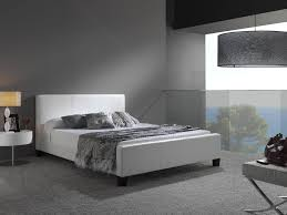 euro white leather queen size platform bed at gowfbca  fashion
