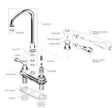 delta bathroom faucet repair diagram delta single handle