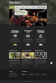 Paintball Field Designer App Camouflage Paintball Joomla Template 44413 Joomla