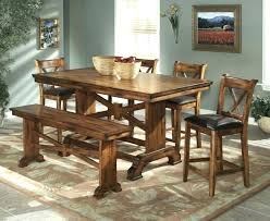 wooden dining tables dark wood table with bench top comfortable bar height sets design ideas rusty