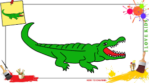 crocodile drawing for kids. Contemporary Crocodile How To Draw A Crocodile EASY U0026 SLOWLY Step By For Kids And Beginners To Crocodile Drawing For Kids C