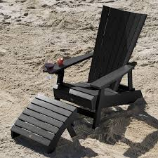 manhattan beach adirondack chair with wine glass holder and folding adirondack ottoman