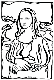 Mona Lisa Coloring Page Coloring Page Coloring Page Pencil And In