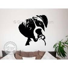 shocking ideas dog wall decor boxer sticker home mural decal