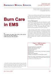 Pdf Burn Care In Ems