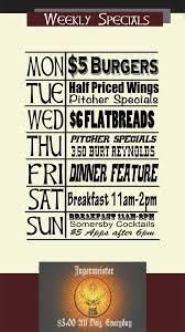 specials menu duke of wellington pub menu specials