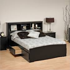 Simple Headboard Storage Design Idea Also Drum Table Lamp Plus Marvelous  Black Ikea Platform Bed King With Drawers