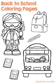 Small Picture Back to School Coloring Pages Simple Fun for Kids