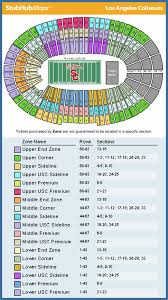 Los Angeles Coliseum Seating Chart Usc Football Seating Chart La Memorial Coliseum Seating Los
