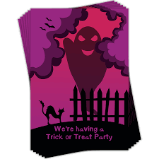 Halloween Invitations Cards Halloween Invitations 6 Pack