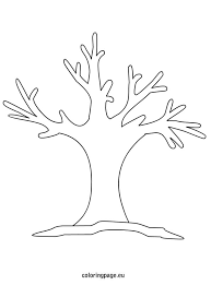 Winter Tree Template Winter Tree Coloring Page Courtoisieng Com