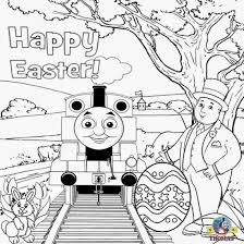 Thomas Coloring Pages For Kids Printable With Easter Train Coloring