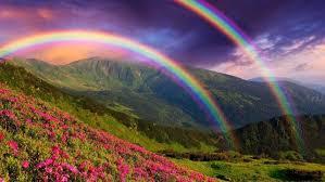 nature rainbows hd wallpaper desktop background