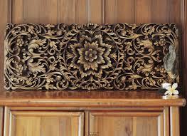 hand carved lotus wall art panel siam sawadee on tiki wood wall art with 12 teak wood wall panels reclaimed teak wall cladding 20x150x600mm