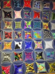 Denim I Spy Rag Quilt - Upcycle Old Jeans - Hangry Fork & Denim I Spy Rag Quilt Adamdwight.com