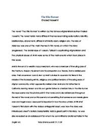 the kite runner essay questions kite runner questions research papers 1598 words the kite runner essay