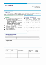 15 Unique Correct Resume Format Resume Sample Template And