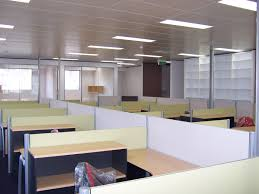 entrancing design ideas of office interior with wooden work desks and dividers also combine storage shelves captivating receptionist office interior design implemented