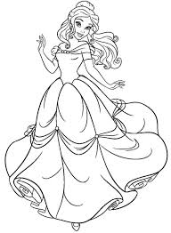 Beauty And The Beast Coloring Page Printable Shayla Belle