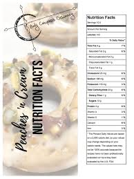 peaches n cream donuts nutrition facts