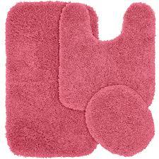 latest pink bathroom rug sets com garland 3 piece jazz gy washable nylon