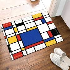 inside front door mat abstract geometric decor continuous replicate bath rug non slip floor entryways outdoor