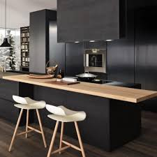 ... Large Size Of Kitchen Cool Black Cabinets Design With Wooden Table And  Two Chairs Ideas ...